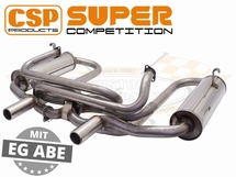 CSP Super Competition Exhaust Stainless Steel